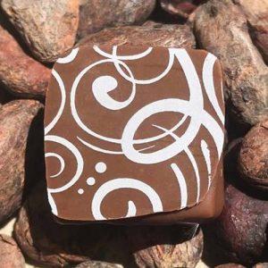 Ganache-lait-Lorenzo - Chocolaterie du Blason