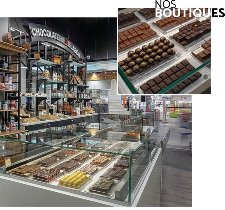 Nos boutiques - Chocolaterie du Blason