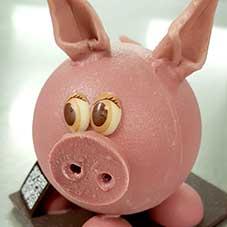 Cochon en chocolat - Chocolaterie du Blason