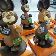Lapin en chocolat - Chocolaterie du Blason